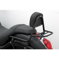 Fehling Sissy Bar mit Rückenlehne und Gepäckträger, Kawasaki VN 900 Custom 2007-, schwarz