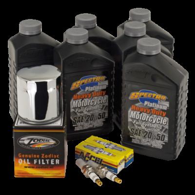 "Spectro Oils Platinum ""3 into 1"" Totale Service Kit voor Twin Cam 99-17"
