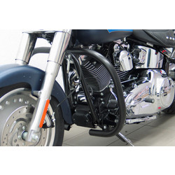 Crash bar, black, H-D FLSTF Fat Boy, FLSTN Softail Deluxe, FLSTC Heritage Softail Classic