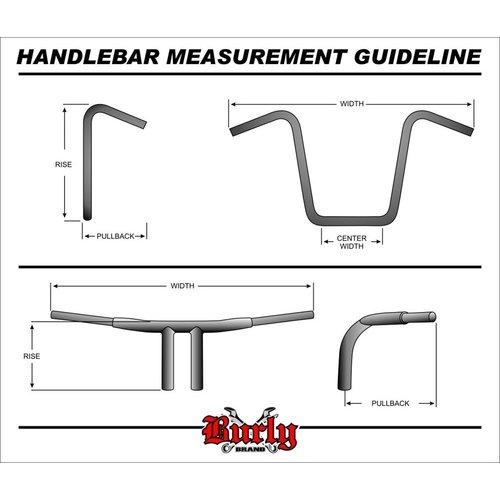 "Burly 12"" Ape Hanger Bar Smal Zwart H-D 82-19"