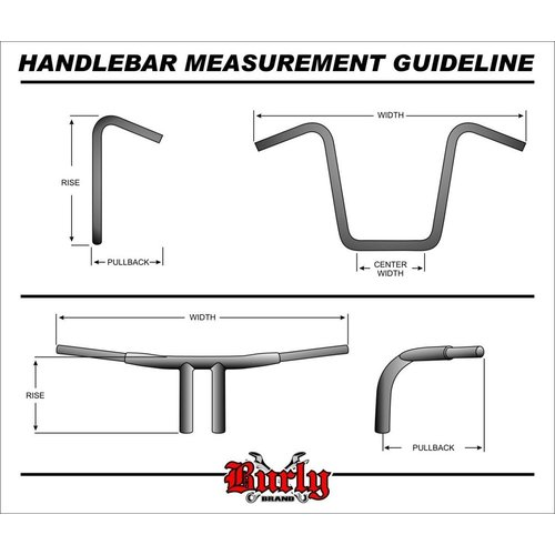 "Burly 14"" Ape Hanger Bar Smal  H-D Chrome 82-19"