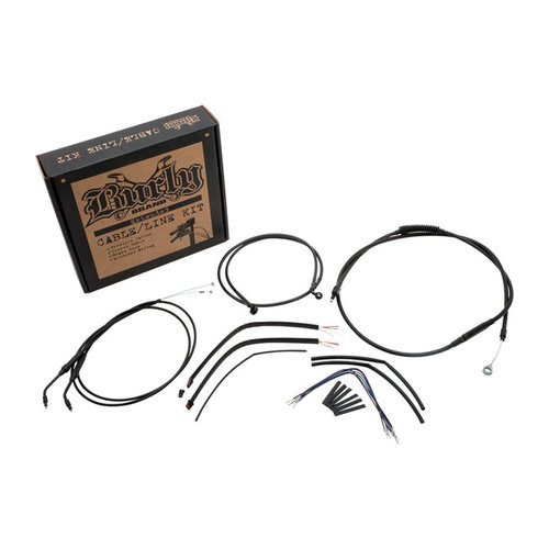 "Burly 07-13 Sportster XL 14"" Narrow Ape Hanger kabel/leiding set"