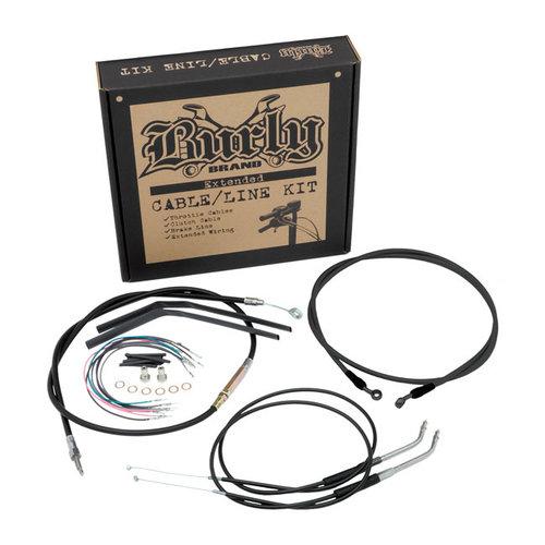 """Burly FLST 00-06 14"""" Ape Hanger kabel/leiding set"""