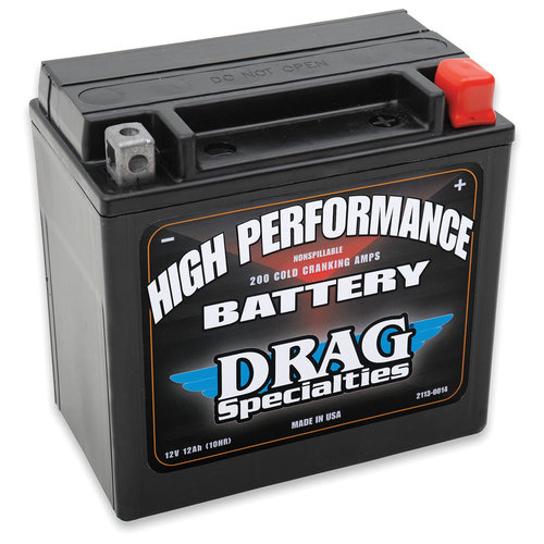 Drag Specialties 12 Volt Hochleistungs Batterie Softail FXD / FXDWG / XL / XG VRSCA VROD