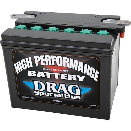 Drag Specialties 12 Volt Hochleistungs Batterie  2002-2006 V-ROD, 2007 VRSCR