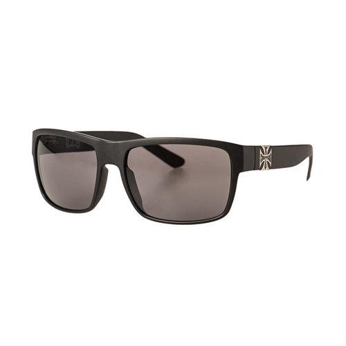 West Coast Choppers WTF, Mat zwarte zonnebril met smoke glas