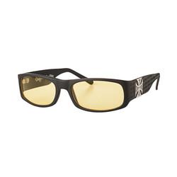 Mat Zwarte Gangscript Sunglasses
