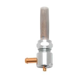 22mm High-Flow Benzinhahn Chrom (Winkel auswählen)