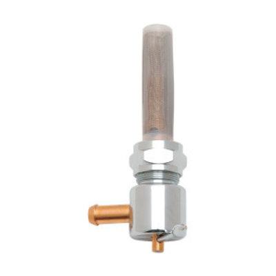 Drag Specialties 22mm High-Flow Benzinekraan Chrome ( Selecteer hoek )