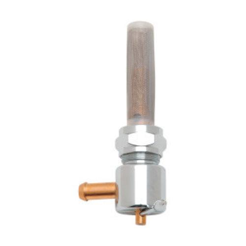 Drag Specialties 22mm High-Flow Benzinhahn Chrom (Winkel auswählen)
