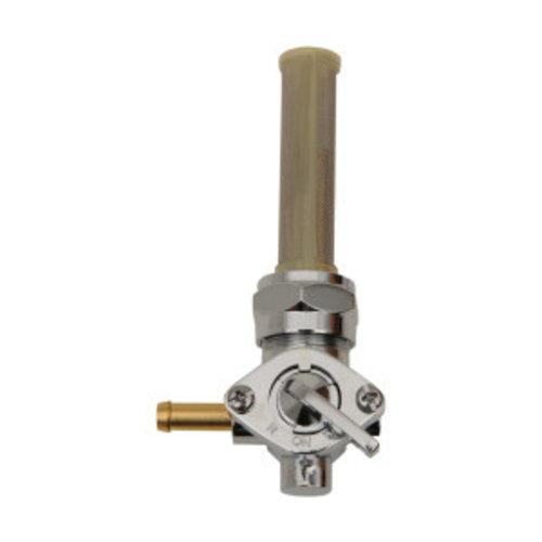 22mm Late-Style Benzinhahn Chrom ( Winkel auswählen)