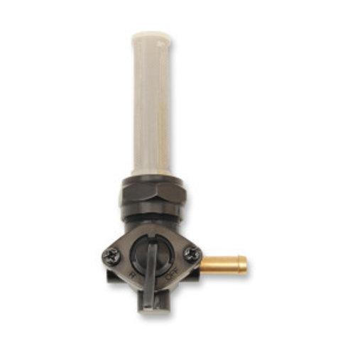 22mm Late-Style Benzinhahn Hochglanz Schwarz (Winkel auswählen)