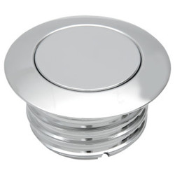 Pop-Up Vented Gas Cap Chrome  H-D 96-18
