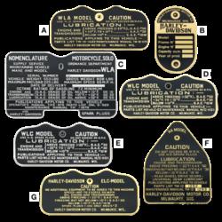 Vintage Waarschuwing en Info emblemen