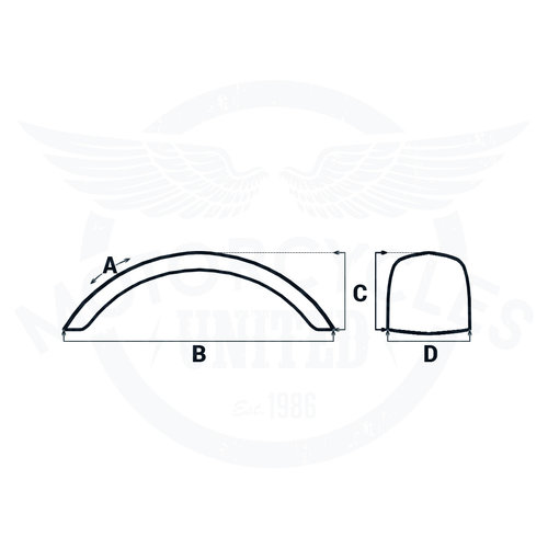 "MCU 133MM Breed 17/18"" Achterspatbord Type 5"
