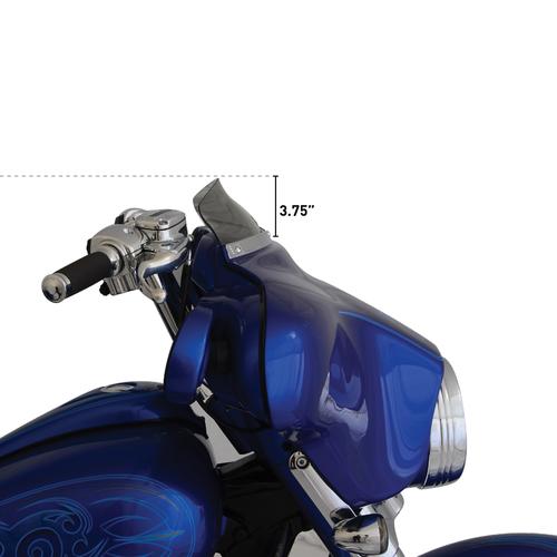 """KLOCK WERKS KUSTOM CYCLES 3.5"""" FLARE Windschield Dark Smoke FLH 96-13"""