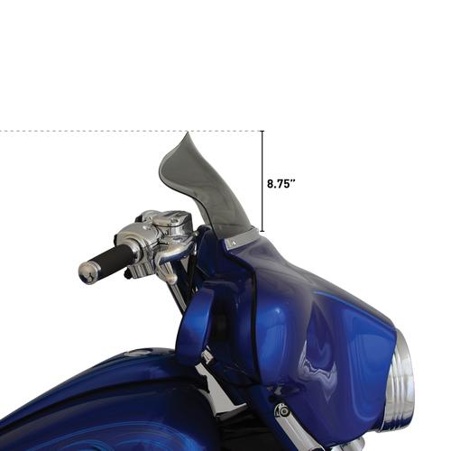 """KLOCK WERKS KUSTOM CYCLES 8.5"""" FLARE Windscherm FLHT/FLHTC 86-95"""