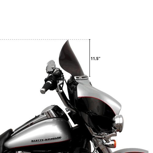 "KLOCK WERKS KUSTOM CYCLES 11.5"" FLARE Windshield FLH 14>(Select colour)"