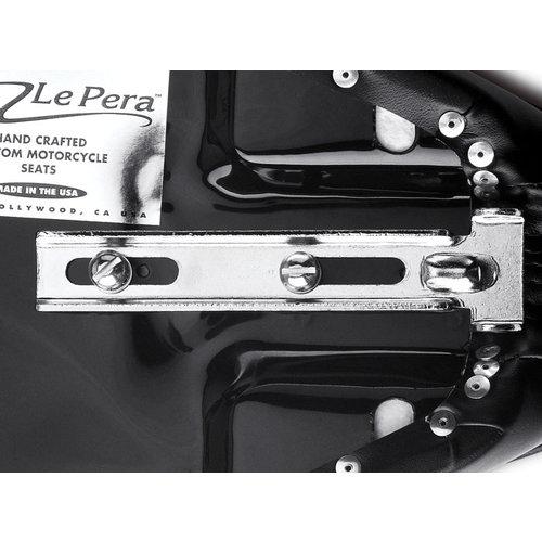 Le Pera Cobra 2-Up Seat Zwart Vinyl