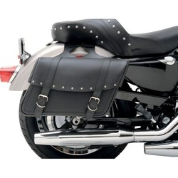 Large Highwayman Riveted Slant Saddlebags