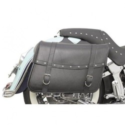 Jumbo Highwayman Riveted Slant Saddlebags