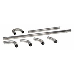 51 mm kit de tuyaux d'échappement DIY en acier inoxydable