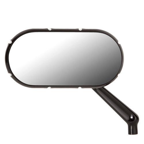 Arlen Ness 10-Gauge Caged Spiegel schwarz - links