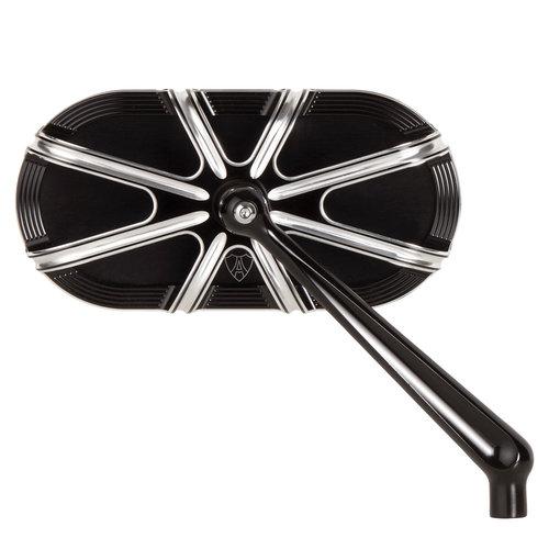 Arlen Ness 10-Gauge Caged Spiegel schwarz - rechts