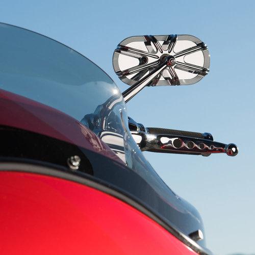 Arlen Ness 10-Gauge Caged Mirror Chrome - Right