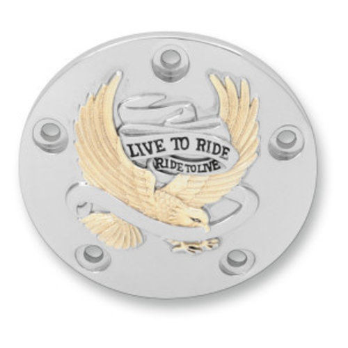 Point Cover Live To Ride Goud Twin Cam 99-17