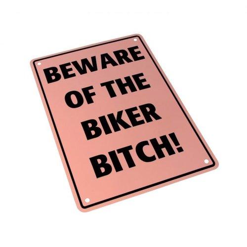 Beware of the Biker Bitch 29 x 20CM Tin Sign