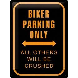 Biker Parking Only 40x30 Tin Sign