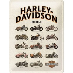 H-D model chart 30x40cm Tin sign