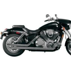 Honda VTX 1800 Exhaust Drag Pipes Slash Back