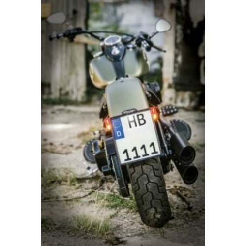 Heinz Bikes Support pour plaque d'immatriculation tout-en-un 2.0