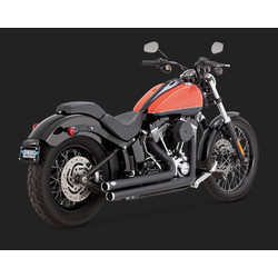 Big Shots Staggered Black Exhaust Softail 86-17