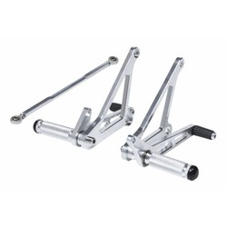 Rearset / Rem Schakel Set Chrome Type 2
