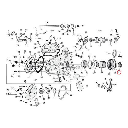 MCS Tandwiel moer, Transmissie H-D B.T. 36-92.  XL91-92