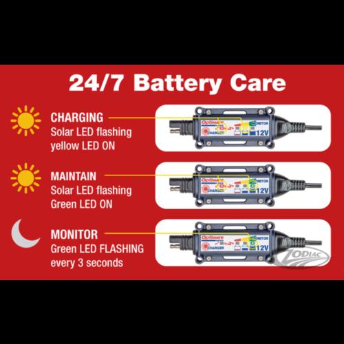 Tecmate 12V Zonnepaneel Oplader & Monitoring Systeem
