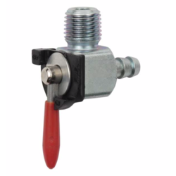 1/4 NPT Red Handle Petcock Rear Outlet