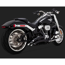 Big radius Exhaust System 2-2 Black for 18-20 Softail