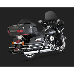 Twin Slash Monster Oval Slip-ons Chrome (09-13 Touring)