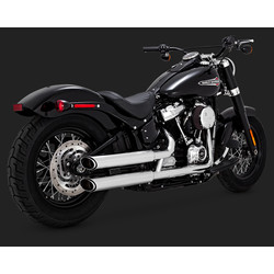 Twin Slash 3 '' Slip-ons für Softail 18-20