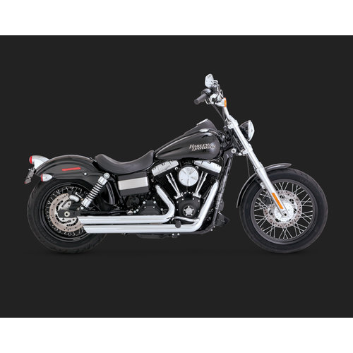 Vance & Hines 2 1/2'' Big Shots Staggered Chrome for Dyna 06-17