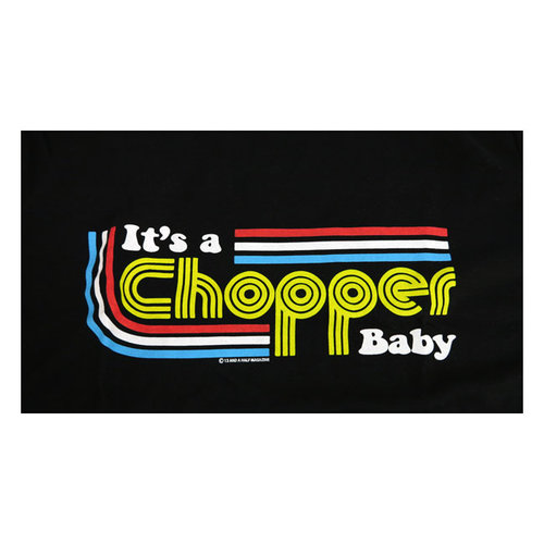 It's a Chopper Baby T-Shirt Male (Black)