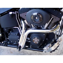 JR 2 L.A.F. Exhaust Pipes - Chrome  86-06 Softail