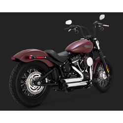 Short-shots Staggered Chrome voor Harley Davidson Softail 18-20