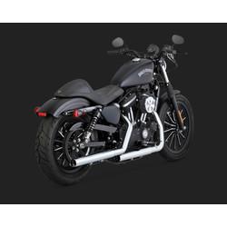 Straight-shots Chrome Slip-ons for Harley Davidson Sportster 14-20