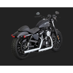 Straight-Shots Chrome Slip-Ons für Harley Davidson Sportster 14-20
