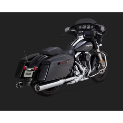 """Oversized"" 450 Titan Chrome Slip-ons d'echappement Touring 95-16"